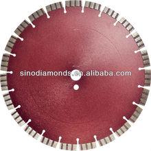 Turbo segmented concrete diamond saw blade for dry/wet using