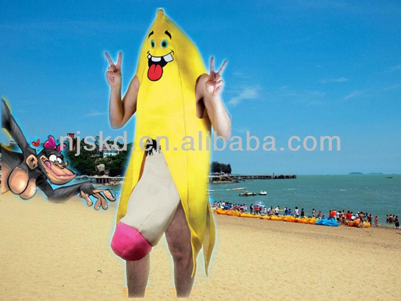 Trajes atractivos del partido, Sexy hombre del plátano del partido del traje adulto