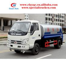 FOTON 4x2 4000liter carbon steel mini drink water tanker for sale