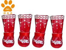 JML 2013 Fashion Christmas Dog Boots,Dog Socks,High Leg Boots for Dog,Waterproof Dog Rain Shoes,Pet accessories,xb1226