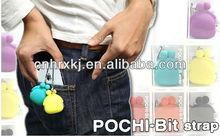 POCHI-BIT Kisslock Closure Silicone Earplug Case, Silicone Coin Purse