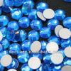 highly sparkle 16 facet cut Capri Blue glass stone Rhinestone heat transferable