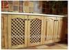 Unfinished beautiful modern gridding 2014 NEW design kitchen cabinet door