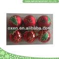 comércio 6cm garantia de pintura decorativa de natal de plástico bola
