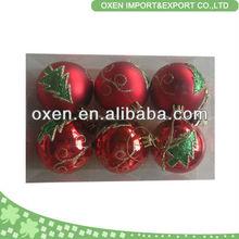 trade assurance 6cm decorative painting plastic christmas ball