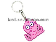 custom PVC keychain in one side 3D logo with cheap price and fast delivery