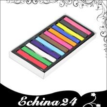 Tizas tizas Color de pelo en colores Pastel de la tiza temporal del cabello tizas con 12 colores