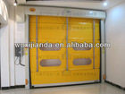 high speed automatic door with folding/stacked curtain