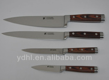 fishing knife with color wood forged handle