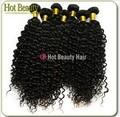 Extensión de cabello ondulado brasileño y virgen