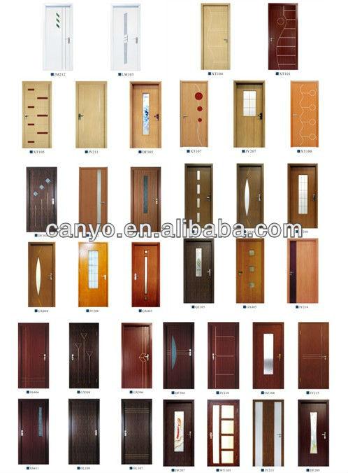 de madera patrón de diseño de plástico de pvc puerta de los precios