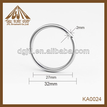 2012 fashion metal high quality split ring for silicone products