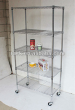 Zhong Shan 5 Tiers Adjustable Home Metal Wire Rack,NSF Approval