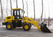 1.6ton 0.8m3 hydraulic transmission ZL16F Wheel loader,wider tire is optional