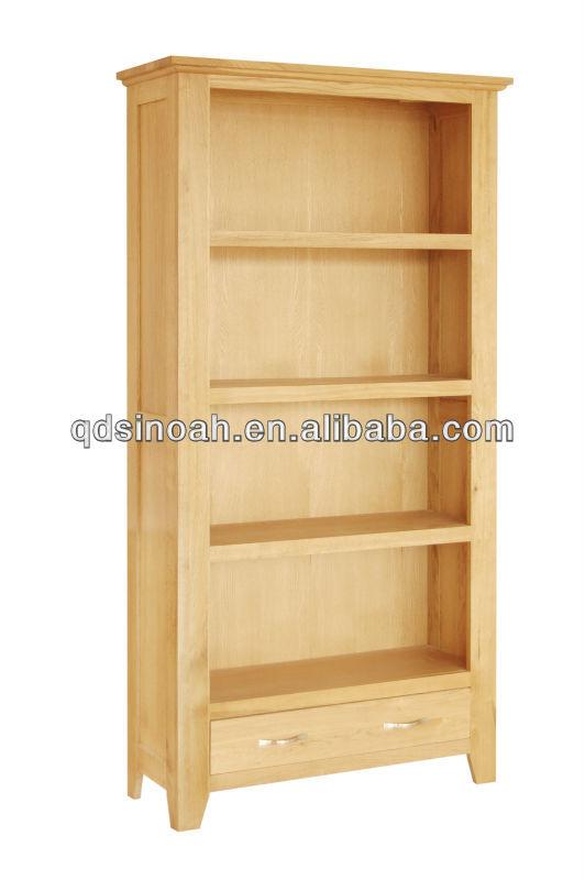 Dise o librero de madera madera maciza de roble estanter a - Muebles para libros modernos ...