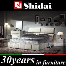 B84 Adjustable headboard leather bedroom designs