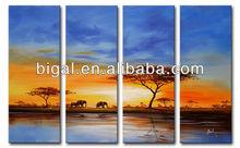 multi panel handmade blue sky tree oil painting on canvas wall art painting decor