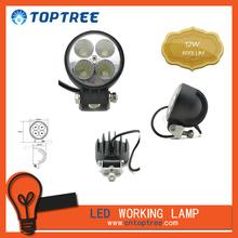 9-32V DC Round LED work lamp for boats, aluminum housing for heavy-duty work
