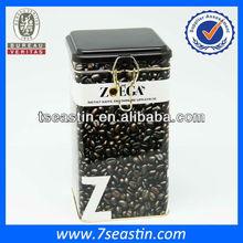 coffee beans square tin box sale