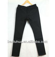 morden black men's raw denim jeans