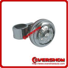 Racing car steering wheel with diamond steering wheel knob ES63002