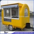 2014 móveis de fibra de vidro carrinho trailer quiosque!!! Alimentar personalizado jx-fr220h carrinho