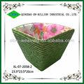 coloridos tecidos cestos feitos de palha