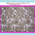 flor de renda de bobinamento do bordado de fita de malha de tecido para o vestido