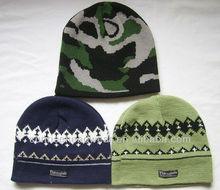 custom 100% acrylic knit jacquard cap