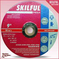 "9"" 230X6X22MM abrasive grinding wheel"