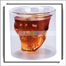 Skull Head Shot Glass Drinking Glass Tumbler Ware For Home Bar