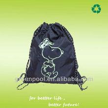 2013 promotional 100% polyester waterproof large drawstring bags