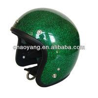 Shining Flake Open Face Novelty Helmet