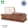 Js-a938 simples maple de madeira caixões cremação para venda