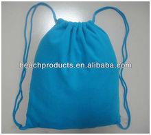 Solid Folding Drawstring towel bag 100% microfiber