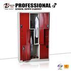 6 tier L shape steel locker, 6 compartments Z shape door metal storage Locker