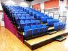 arena multifunctional sports tribune,retractable viewing platform,telecopic riser for indoor basketball,volleyball,handball