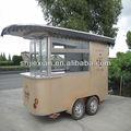 2014 aço inoxidável CR320 de rua de luxo venda de café de alimentos móvel Vending carrinho para venda
