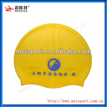 2015 hot sell customized silicone swimming caps