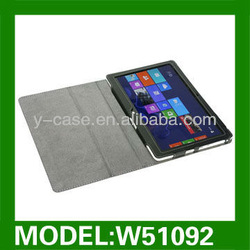Genuine leather stand case for Acer Iconia W510