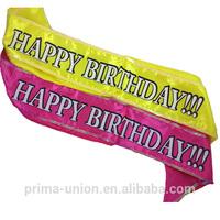 Custom Logo Birthday Party Sash with Printing