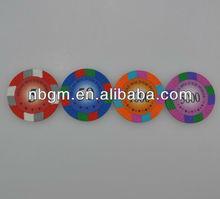 14g Thee Tone Clay Sticker Poker Chip/Casino Poker Chip