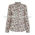 2014 nuevo modelo de venta al por mayor de moda blusas para uniforme
