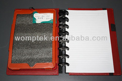 protective cover for mini Ipad with loose-leaf paper