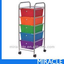 5 -PP Plastic Drawer Storage Organizer Cart Furniture