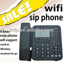 wifi voip phone 4 lines for 4 sip account telephone line bug