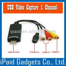USB 2.0 TV DVD VHS Vedio Audio AV Capture Adapter Easy cap USB 2.0