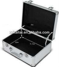 Silver aluminum briefcases