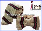 100% silk knitted ties set for men, stripe knitted necktie silk