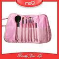 Msq 7 unids de corea del pelo sintético de color rosa de marca propia pinceles de maquillaje